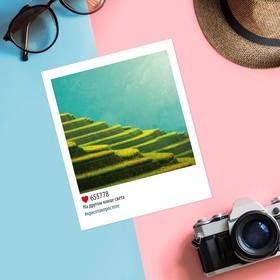 Почтовая карточка в стиле инстаграм «На другом конце света», 8,8 х 10,7 см Ош