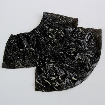 """Бахилы """"Сверхпрочные"""", с двойной резинкой, чёрные, 400x140мм., 70 мкм., 50 пар, 7 г."""