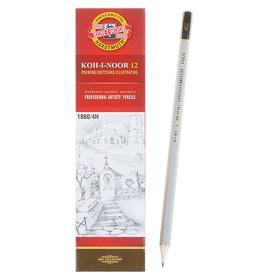 Карандаш чернографитный Koh-I-Noor 1860 4H Gold Star, профессиональный