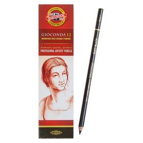 Карандаш художественный чернографитный 4.2 мм, Koh-I-Noor GIOCONDA 8815 soft, чёрный, L=175 мм Ош
