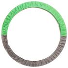 Чехол для обруча 60-90 см, цвет салатовый/серый