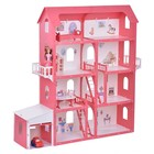 Дом для кукол «Коттедж Александра», бело-красный, с мебелью - Фото 2