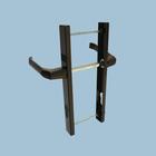 Комплект ручек DHS 92/1 RAL (8019), для узкопрофильных замков, м/о 92 мм, коричневый