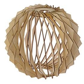 Абажур деревянный 'Резной шар', D=30см Ош