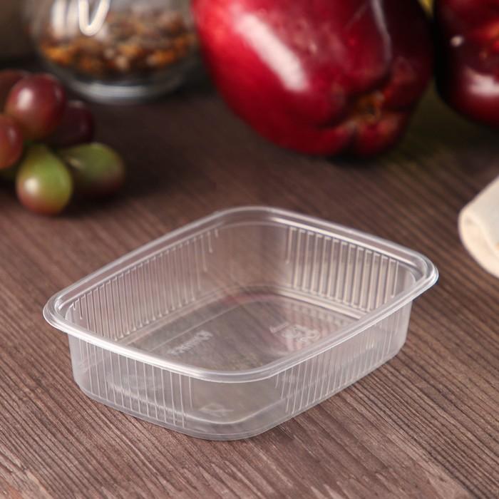 Контейнер одноразовый Юпласт, 125 гр, 10,88,22,2 см, прямоугольный, цвет прозрачный