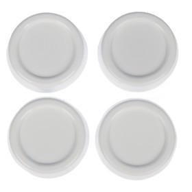 Набор подставок антивибрационных, круглые, 4 шт, цвет белый Ош