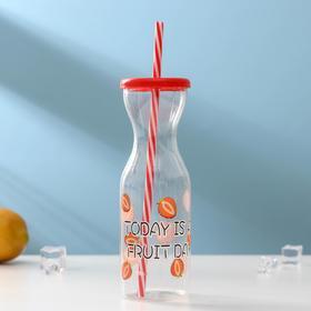Бутылка «Цитрусовый бум», с трубочкой, цвет МИКС Ош