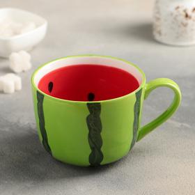 Кружка «Арбуз», 420 мл, цвет зелёный