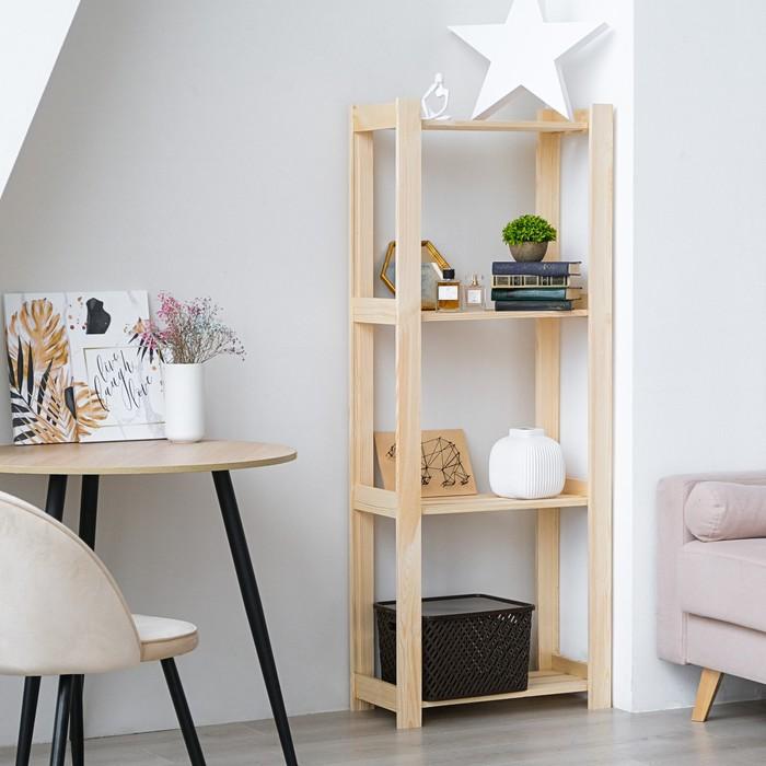 """Стеллаж деревянный """"Альфа"""", 64×28×159см"""