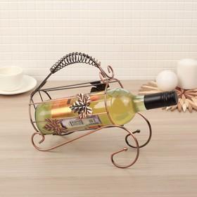 Подставка для бутылки «Кленовый лист», 24×10×22 см Ош