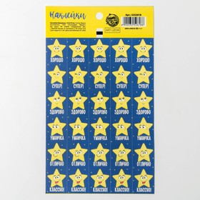 Наклейки–оценки «Ты звёздочка», 10,5 × 18 см Ош