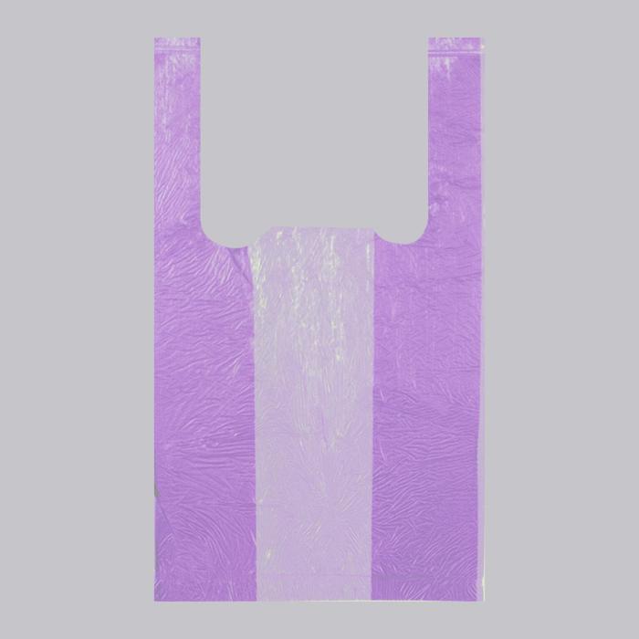 Пакет Фиолетовый, полиэтиленовый, майка, 25 х 45 см, 10 мкм