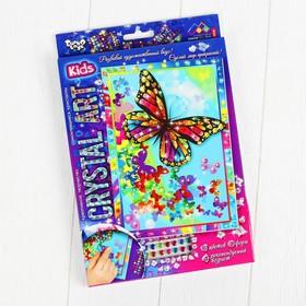 Набор креативного творчества «Самоклеящиеся кристаллы. Бабочка» серии «Crystal Art»