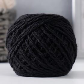 Пряжа 'Акрил' 100% акрил, 108м/42гр (Чёрный) Ош