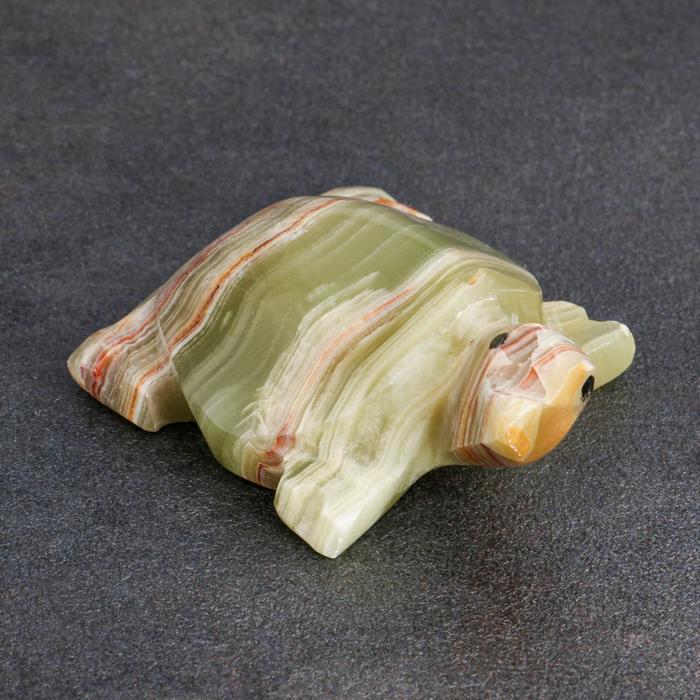 Сувенир «Черепаха», 6,3 см, оникс