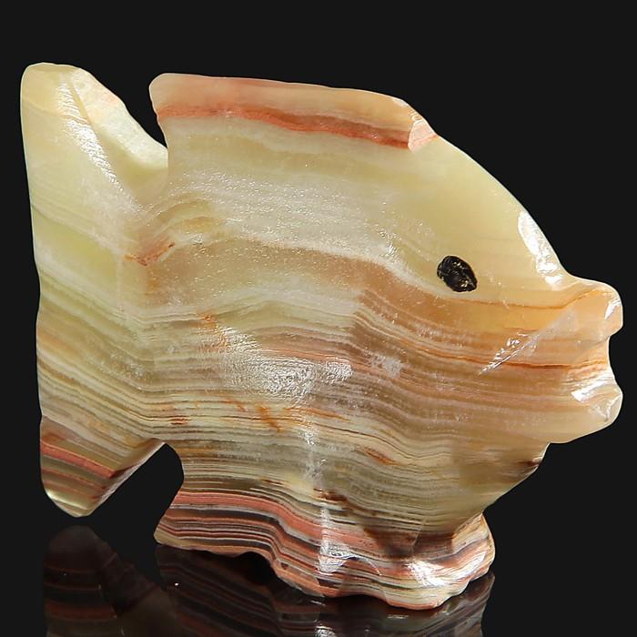 Сувенир Рыба, 5 см, оникс