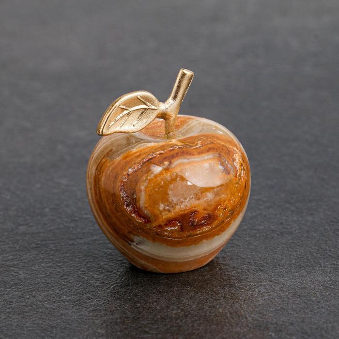 Сувенир Яблоко, 3,2 см, оникс
