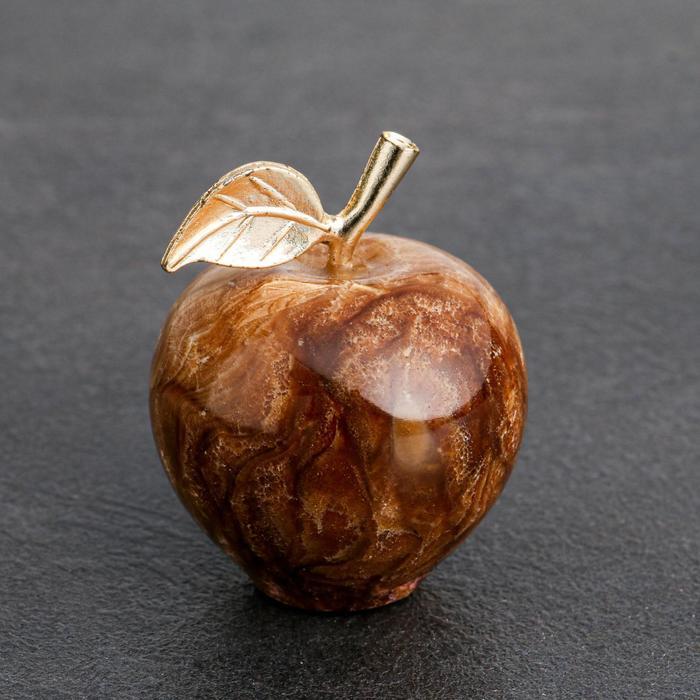 Сувенир «Яблоко», 3,8 см, чёрный оникс