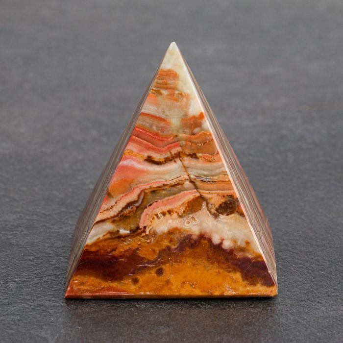 Сувенир Пирамида, 5 см, оникс