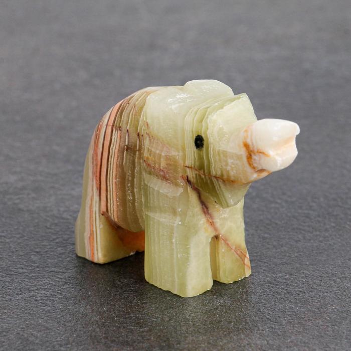 Сувенир Слон, 5 см, оникс