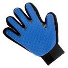 Рукавица-щетка для шерсти на правую руку из неопрена с удлиненными зубчиками, микс - Фото 3