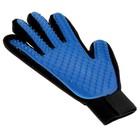 Рукавица-щетка для шерсти на правую руку из неопрена с удлиненными зубчиками, микс - Фото 4