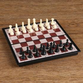 Игра настольная 'Шахматы' классические, доска объёмная, 9х17.5 см Ош