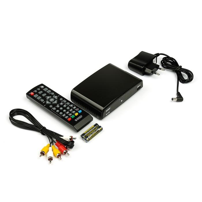 """Приставка для цифрового ТВ """"Эфир"""" HD-515, FullHD, DVB-T2, HDMI, RCA, USB, черная"""