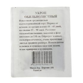 Семена Укроп 'Обильнолистный' б/п, 3 гр. Ош