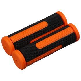 Грипсы Novatrack, 110 мм, цвет чёрный/оранжевый