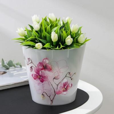 """Горшок для цветов d=16 см, 1,6 л """"Фиджи. Орхидея"""", дизайн МИКС"""