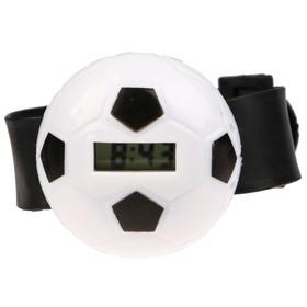 Часы наручные 'Футбольный мяч', с силиконовым ремешком, микс, 22 см Ош