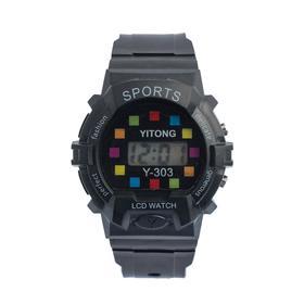 Часы наручные детские 'Пиксель', электронные, с силиконовым ремешком, микс Ош