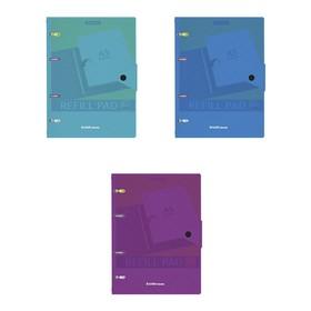 Тетрадь на кольцах ErichKrause Glance Vivid, А5, 80 листов в клетку, пластиковая обложка, на кнопке, МИКС Ош