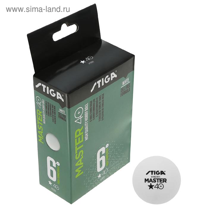 Мяч для настольного тенниса Stiga Master ABS, 1 звезда, пластик, уп. 6 шт., 1111-2410-06