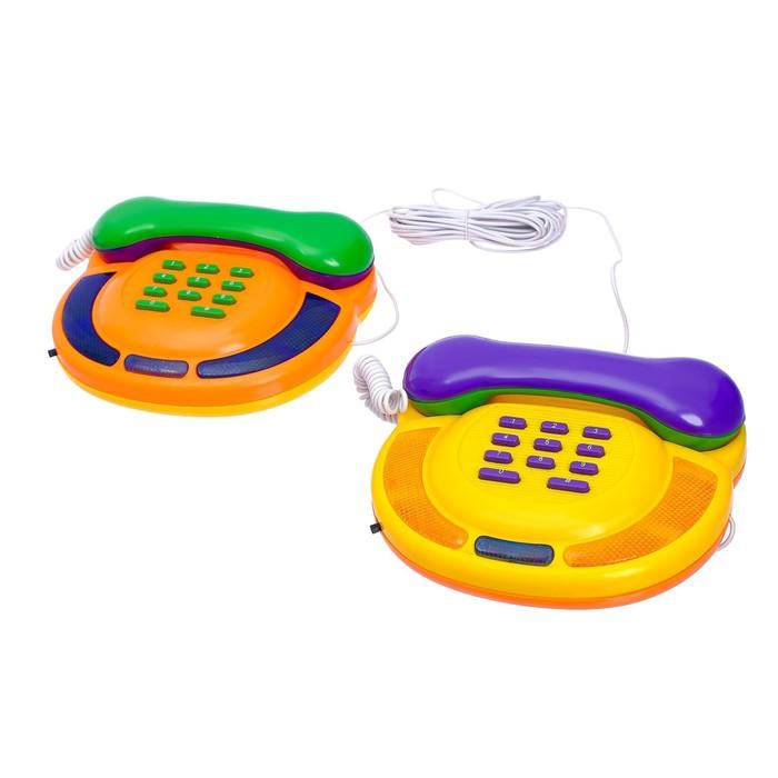 """Телефон """"Весёлые игры"""", в наборе 2 телефона"""