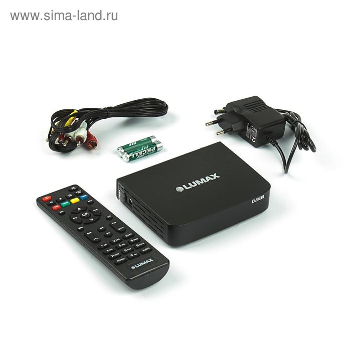 Приставка для цифрового ТВ Lumax DV2104HD, FullHD, DVB-T2, дисплей, HDMI, RCA, USB, черная