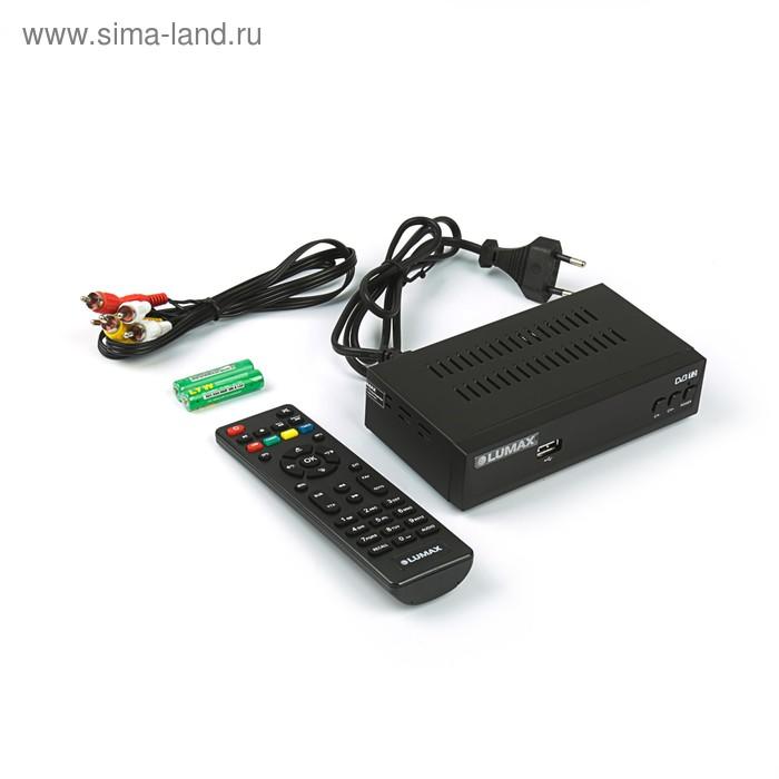 Приставка для цифрового ТВ Lumax DV3201HD, FullHD, DVB-T2, дисплей, HDMI, RCA, USB, черная