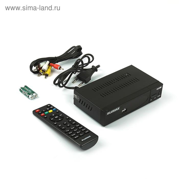 Приставка для цифрового ТВ Lumax DV3208HD, FullHD, DVB-T2, дисплей, HDMI, RCA, USB, черная