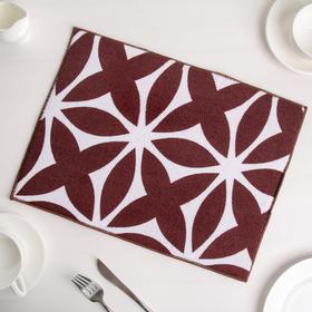 Коврик для сушки посуды 30×40 см 'Призма', микрофибра, цвет коричневый Ош