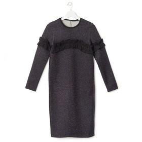 Платье женское KAFTAN с рюшей, р-р 40-42, чёрный Ош