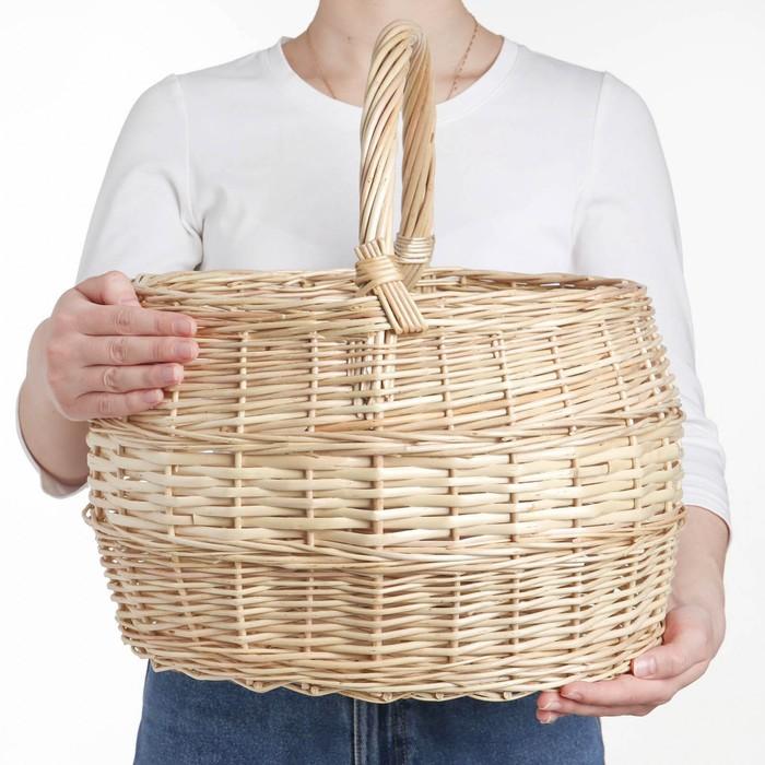 Корзина «Грибная», №4, 38×32×42 см, 15 л, ручное плетение, лоза
