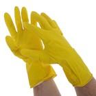 Перчатки латексные с внутренним х/б напылением, размер ХL, Handwork, 40 г.