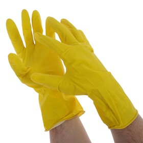 Перчатки латексные с внутренним х/б напылением, размер ХL, Handwork, 40 г. Ош