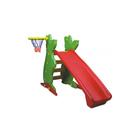 Горка пластиковая с баскетбольным кольцом, 122 см