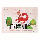 Альбом для рисования А5, 40 листов на клею, Kroyter «Друзья», картонная обложка, тиснение фольгой, 100 г/м²