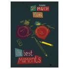 Тетрадь 48 листов, клетка А4 на скрепке, Kroyter For best moments плотность 65 г/м², тиснение фольгой