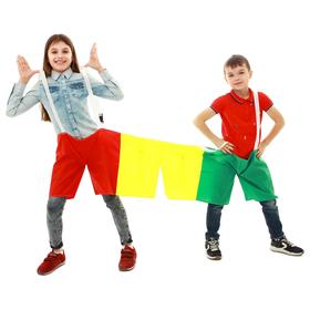 Шорты эстафетные, три штанины, для троих, детские  МИКС Ош