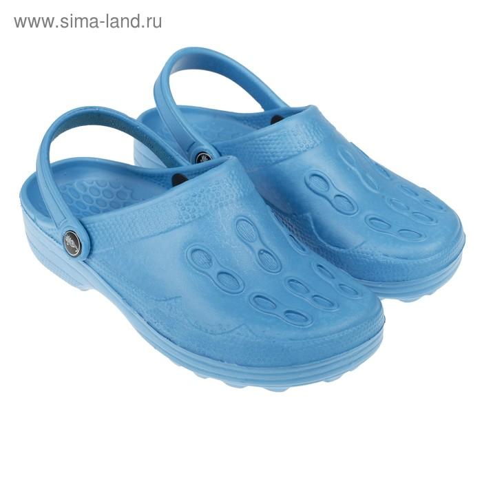 Сабо женские River, цвет голубой, размер 38