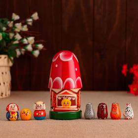 Пальчиковый театр «Колобок», теремок и 7 кукол, 14 см